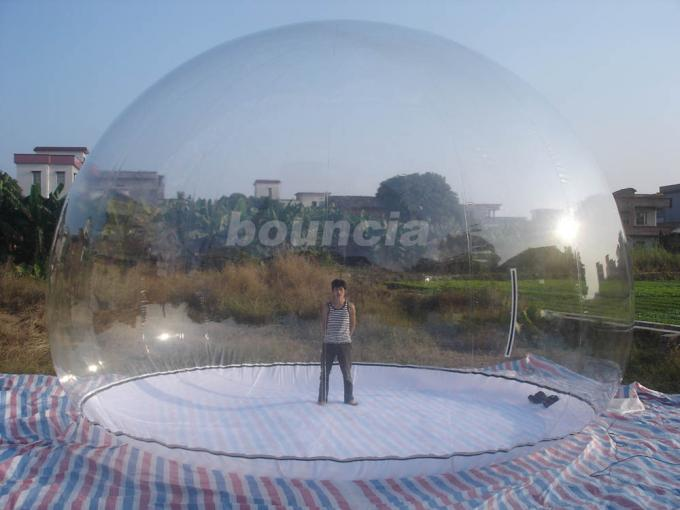 Clear Inflatable Show Ball / Inflatable Snow Globe For Advertising