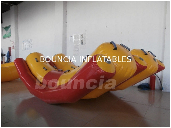 Two Tubes Inflatable Floating Water Totter With 0.9mm PVC Tarpaulin