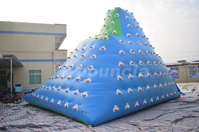 Giant Inflatable Floating Iceberg , Water Climbing Wall For Ocean