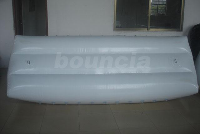 0.9mm PVC Tarpaulin White Color Inflatable Billboard For Water Park