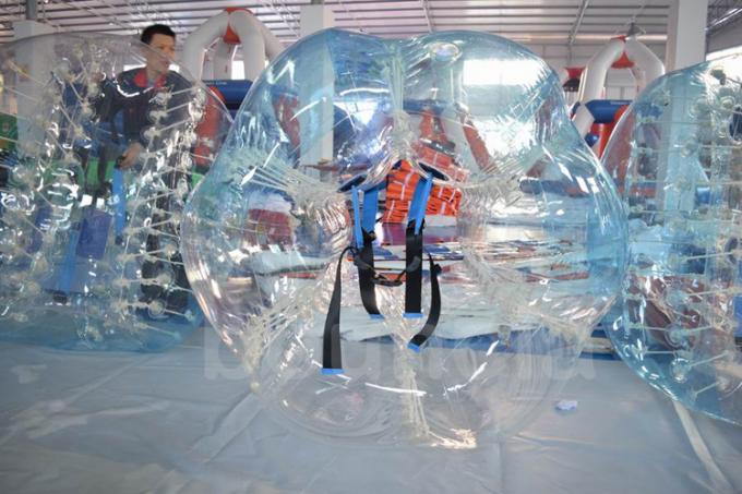 Durable TPU Inflatable Human Soccer Bubble / Buddy Bumper Ball For Adults