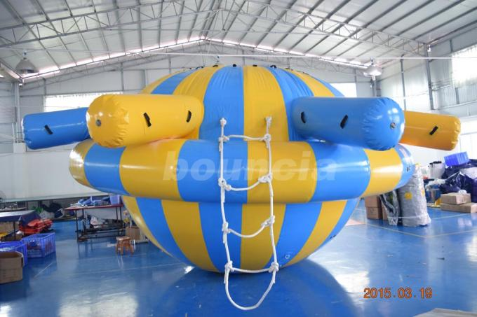 0.9mm PVC Tarpaulin Inflatable Saturn Rocker For Water Park Games