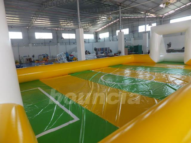 Huge Inflatable Football Field, Air Sealed Inflatable Soap Soccer Field