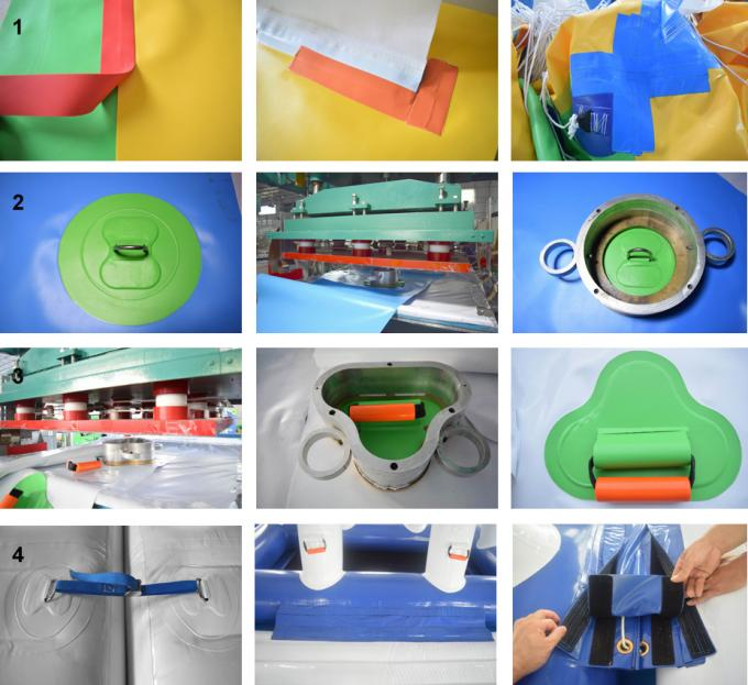 0.9mm PVC Tarpaulin Adults  Inflatable Floating Water Park Games With TUV Certification