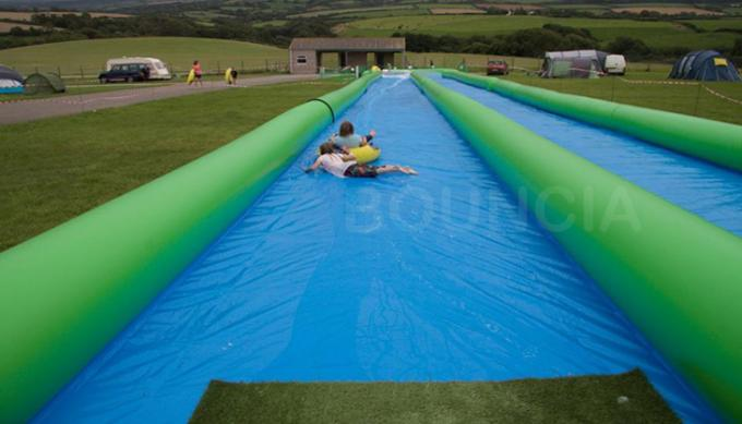 100m Giant Inflatable Slip N Slide With Pool For Kids And Adults