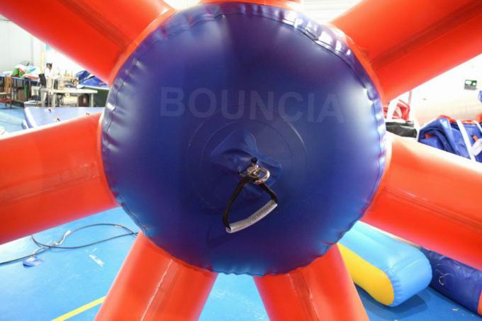 0.9mm PVC Tarpaulin Colorful Inflatable Water Roller  For Water Games