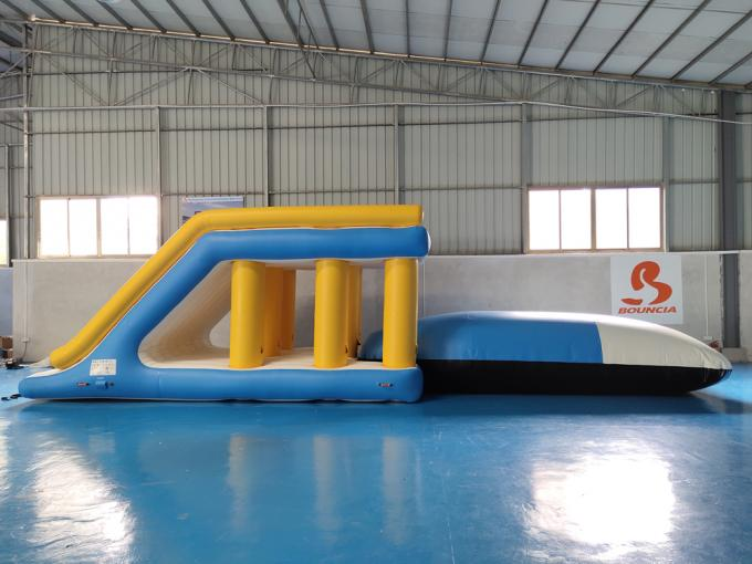 Commercial Grade Inflatable Water Jump Pillow For Lake / Sea / Pool