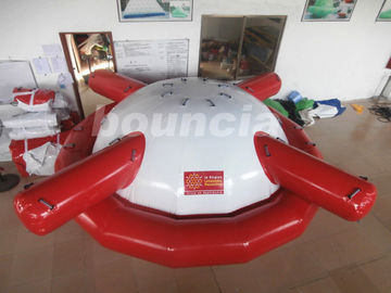 Commercial Grade PVC Tarpaulin Inflatable Saturn Rocker For Water Games