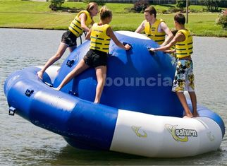 China 0.9mm Double Layer PVC Fabric Inflatable Saturn Rocker For Adult Used In Lake factory