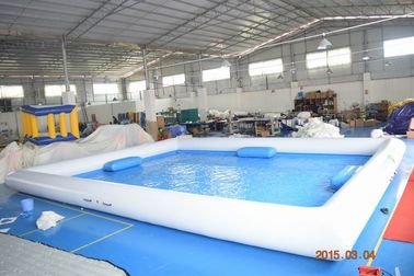 China Outdoor Activity White Inflatable Water Pool With 0.9mm PVC Tarpaulin factory