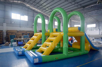 Supply Water Park Inflatable Aqua Slide Floating Water Tower For Lake