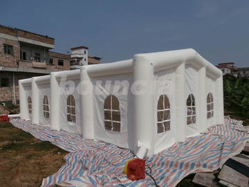 China 12mL*6mW*3.35mH White Inflatable Wedding Tent With 210D PVC Coated Nylon factory