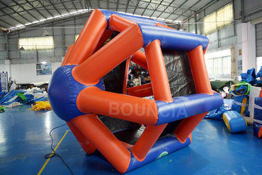 China 0.9mm PVC Tarpaulin Colorful Inflatable Water Roller  For Water Games factory