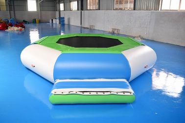 China Water Trampoline Combo , Inflatable Water Trampoline With Slide For Fun factory