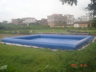 China Giant Inflatable Water Pool With CE Air Pump For Rental Business factory