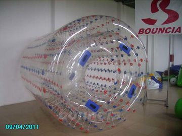 China Transparent Inflatable Water Walking Roller WR07 Used In Lake / Pool factory