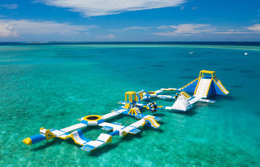 China good quality Maldives 125 People Inflatable Water Park For Resort Dimensions 82m*35m on sales