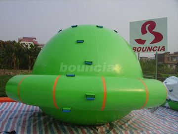 China Green Color Commercial Grade PVC Tarpaulin Inflatable Saturn Rocker factory