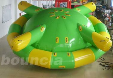China Double Layer PVC Fabric Inflatable Saturn Rocker / Inflatable Floating Spinner factory