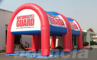 China 0.6mm or 0.9mm PVC Tarpaulin Advertising Inflatable Arch Tent Manufacturer factory