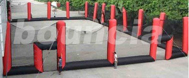 China Inflatable Paintball Arena , Inflatable Paintball Court For Sport Games factory