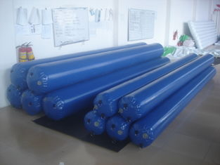 4.5mH*0.33m Diameter Blue Color Water Park Inflatable Tube With PVC Tarpaulin