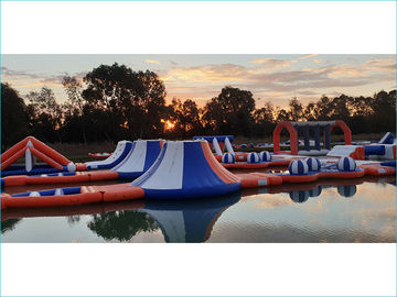 Waterproof Inflatable Water Park For Sea Blue  , Yellow And White Color