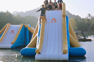 Customized Auti UV Amazing Inflatable Aqua Park With 30 People Capacity