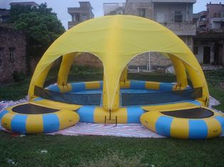 China Inflatable Water Pool With Tent / Inflatable Water Ball Pool For Party factory