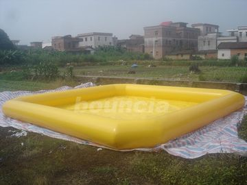 China Yellow Color Outdoor Inflatable Water Pool With Reinforcement Strips factory
