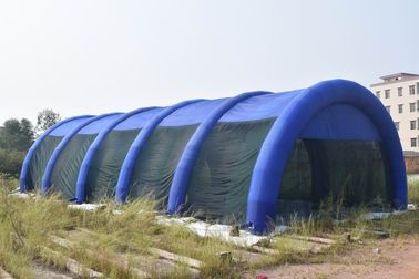 China 30m Long Large Inflatable Paintball Arena For Outdoor Activity factory