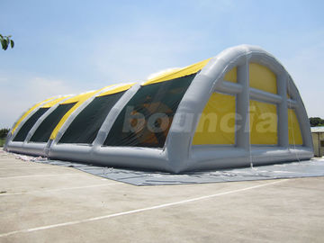 China 30mL*18mW*8mH Airtight Inflatable Paintball Field For Sale factory
