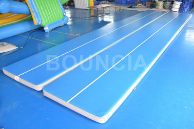 China 15mL Blue Gymnastics Air Track , Air Mattress Gymnastics With Durable Handles factory