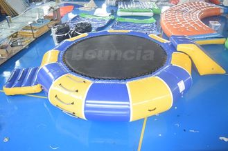 China 0.9mm PVC Tarpaulin Inflatable Water Trampoline Combo For Water Sports factory