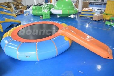 China Durable PVC Tarpaulin Inflatable Water Bouncer / Trampoline For Pool factory