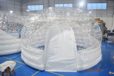 4.5m Diameter Transparent Airtight  Tent /  Inflatable Dome Bubble Tent For Trade Show