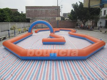 Customized Inflatable Zorb Ball Field , Zorbing Ball Track With PVC Tarpauline