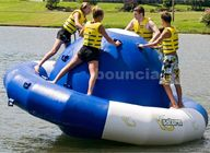 China 0.9mm Double Layer PVC Fabric Inflatable Saturn Rocker For Adult Used In Lake company