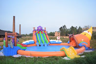 China 20m Giant Portable Inflatable Water Park Slide With Pool For Commercial Use factory
