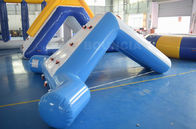0.9mm Blue Color PVC Tarpaulin Swimming Pool Small Water Slide supplier