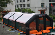 China 210D PVC Coated Nylon Inflatable Paintball Tent / Paintball Arena With Air Blowers company