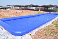 China Custom Blue Color Largest Inflatable Water Pool / Square Above Ground Water Pool factory