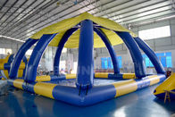 China 10mL * 10mW * 5mH Large Inflatable Swimming Pool With Tent Cover CE Approval company