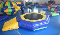 China 0.9mm PVC Tarpaulin Inflatable Floating Water Trampoline With Beam For Pool factory