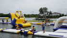 Huge Inflatable Floating Aqua Park Blue , Yellow And White Color EN15649 Standard supplier