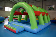 Durable 0.9mm PVC Tarpaulin Inflatable Lake Water Park Green , Blue And Red Color