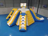 Multifunction Inflatable Water Tower For Lake Park 0.9mm PVC Tarpaulin Material