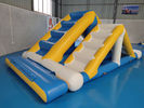 Kids Floating Inflatable Water Park / Inflatable Aqua Splash Park For Shallow Area supplier