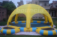 China Outdoor Inflatable Water Pool With Tent Cover And Platform For Party factory