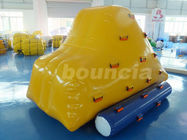 China 0.9mm PVC Tarpaulin Inflatable Iceberg With 2 Sides Climbing For Pool factory